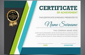 Achievement Certificate 50 Multipurpose Certificate Templates And Award Designs For Business