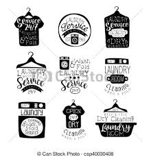 hanging laundry clipart black and white. Exellent Hanging Laundry Room Black And White Label Set  Csp40030408 On Hanging Clipart H