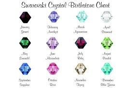 Birthstone Crystals Chart Add On Swarovski Crystal Birthstone Charm