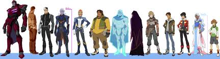 Voltron Legendary Defender Height Chart The Blade Of Marmora Please Excuse The Shitty Collage But