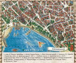 Карта Евпатории Карта окрестностей Евпатории Карта центра города  Карта Евпатории Карта центра города