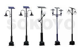 Solar Pillar Lantern  LED Light Bulb  Imperial Solar Pole LightSolar Pole Lighting