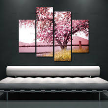 unframed 4 sets red plum blossom flowers wall pictures for living room large hd wall art canvas modular pictures oil painting on plum flower canvas wall art with popular plum flower canvas buy cheap plum flower canvas lots from