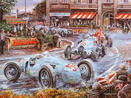 vintage cars and racing scene automotive art of vaclav zapadlik vintage car racing scene