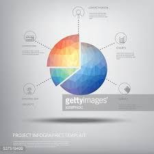 Modern Pie Chart Colorful Pie Chart Symbol In Modern Low Polygonal Shape