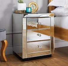 mirrored bedside furniture. Italian Mirrored Bedside Table Mirrored Bedside Furniture S