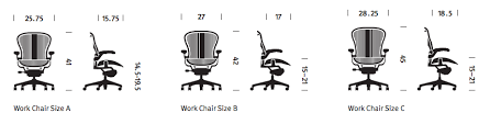 Aeron Miller Size Chart The 3 Sizes Of An Aeron Chair Designcabinet