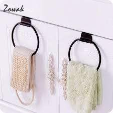 kitchen hand towel holder. Towel Ring Over Cabinet Door Iron For Kitchen Bath Holder Hand Hanging Hanger Bathroom Accessories Loop-in Storage Holders \u0026 Racks Y