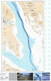 Potomac River Charts Bathymetric Nautical Chart Plate 8 Chesapeake Potomac River Ent