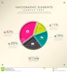 Modern Pie Chart Abstract Pie Chart Infographics Stock Vector Illustration