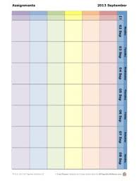 weekly student planners color coded add adhd ocd friendly weekly school assignment