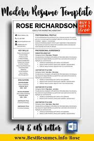 Best One Page Modern Resume Modern Resume Design Template For Word One Page Resume Template And