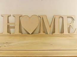 home wooden letters wooden heart decor
