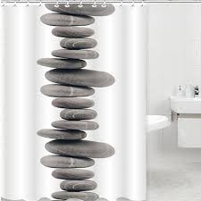 novelty shower curtains. Shower Curtain Pebbles Tub Waterproof Bathroom Zen Stones Novelty Stylish Soothing Cool Curtains