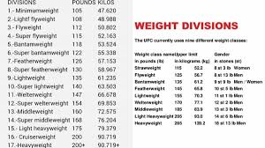 74 Abiding Boxing Weight Classes