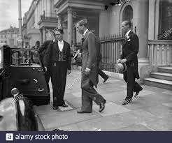 Prince George, Duke of Kent leaving his home in Belgrave Square to be the  best man for his secretary , Mr John Lowther at Mr Lowther's wedding to  Miss Priscilla Lambert at