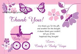 Thank You Cards Baby Shower Exciting Thank You Cards Ba Shower Wording 95 For Your Ba Thank You