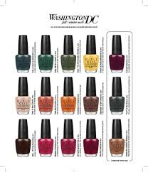 Opi Color Chart Opi Lacquer Nlw67 Inside The Isabelletway Washington Collection 5 Oz