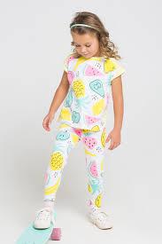 <b>Бриджи</b> для девочки, артикул: К 4074, цвет: тропические фрукты ...