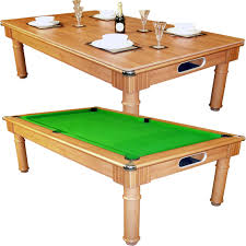 Combination Pool Table Dining Room Table Brown Green Dining Room Pool Table Decoarated White Crockeries