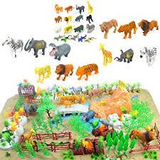 plastic zoo animals toys. Unique Plastic 200 Pieces Wild Animal Toys Solid Figures Plastic Toy Zoo Farm Jungle  Animals Playset Inside F