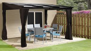 how to use a wall mounted gazebo to