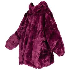 purple faux fur coats giant eggplant purple oversized full length faux fur coat for purple
