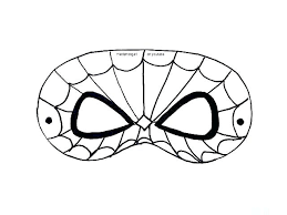 Spiderman Template Spiderman Mask Printable Onlineqicy Info