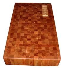 cherry end grain butcher block 6 inches thick with drop in knife block