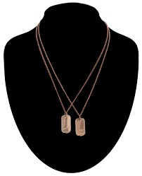 ky co pendant f necklace set friendship dog tag best friends rose gold tone