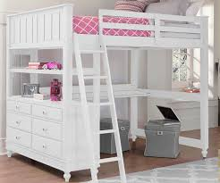 image of white loft bed