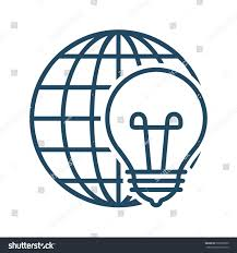 Light Bulb Symbol Meaning Globe Light Bulb Vector Icon Meaning Royalty Free Stock Image