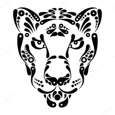 пантера символ татуировка пантера символ украшения иллюстрации