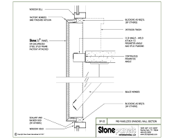 metal stud framing details. Pre-Panelized Spandrel Wall Section Metal Stud Framing Details T