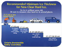 Ice Road Thickness Chart Cottagelink Magazine Safety On The Ice