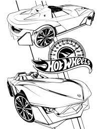 Hot Wheels Kleurplaat Gratis Kleurplaten Printen