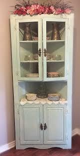 hutch kitchen furniture. shabby corner cabinet vintage chippy hutch kitchen furniture