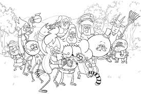 The Regular Show Characters Coloring Pages Cooper Party