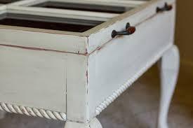vintage reclaimed window turned coffee table
