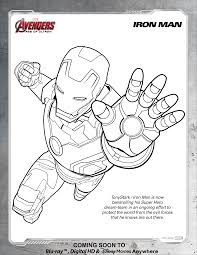 Iron Man Coloring Pages Avengers Page Disney Movies 25513301