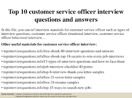 Top 10 Customer Service Officer Interview Questions And Answers