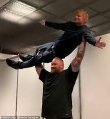 Ed Sheeran Is Effortlessly Lifted Up By Fellow Game Of