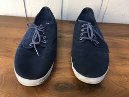 bobs bobs bobs suede leather sneakers shoes size 11 navy 23e906