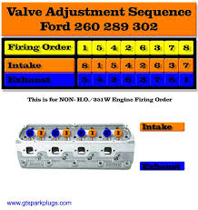 ford 260 289 and 302 valve adjusting order gtsparkplugs 260 289 302 valve adjustment order