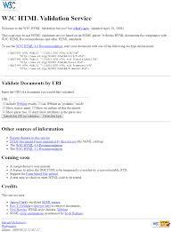 W3C HTML Validator - 1997 - Web Design History | Web Design Museum