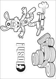 Kids N Fun Kleurplaat Roary De Racewagen Flash