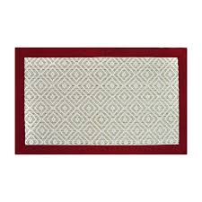 decorative accent rug red 21 inx34 in