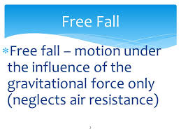 Free Fall Powerpoint Free Fall Student Determine The Effect Of Gravity On Objects Without