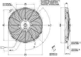 vehicle radiator fan 12 va10 ap10 c 61a radiator fans va10 ap10 c 61a dimensioned drawing