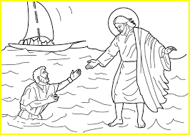 jesus walks on water coloring page.  Page Jesus Walking On Water Coloring Page Best Of Walks  Aprenda With E